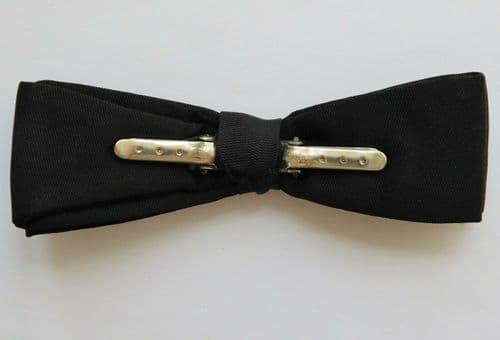 Black pique Tenax clip on bow tie vintage English mens dress wear ready-tied BF